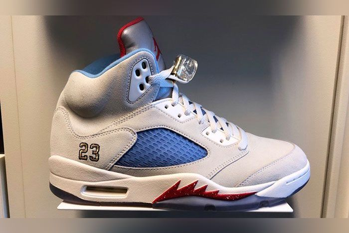 Trophy Room Air Jordan 5 Sail Release Date 1 Side