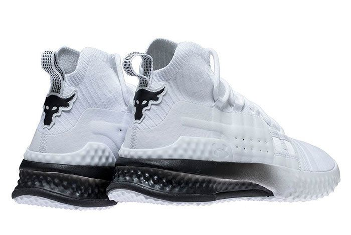 Ua Project Rock 1 White Black 1 Sneaker Freaker