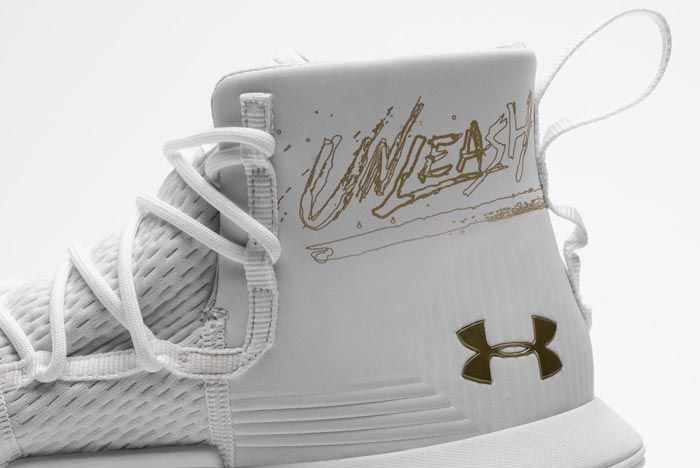 Under Armour Curry 3Zer0 2 White Gold Medial Heel