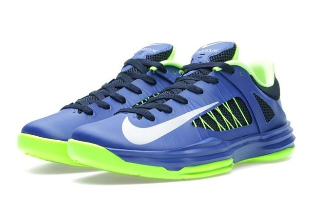 Nike Hyperdunk Low Hyperblue Elecgreen Front Quarter 1