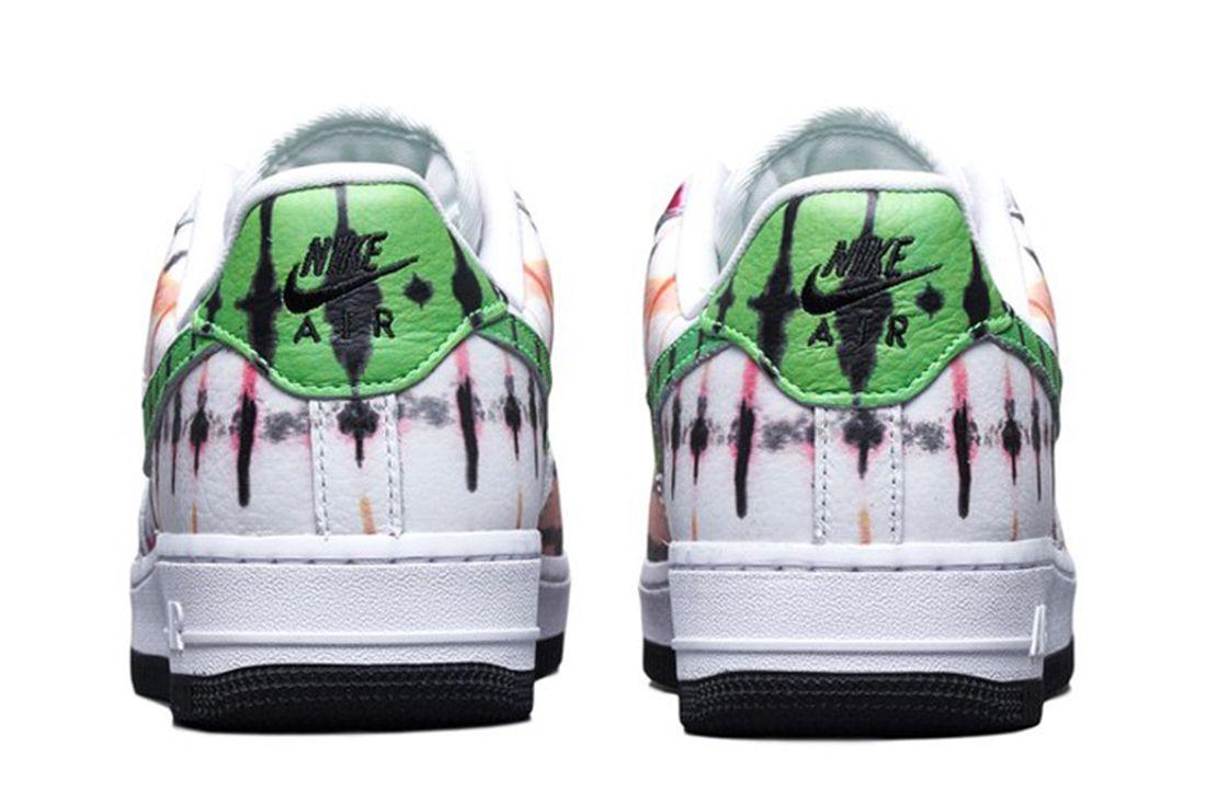 Nike Air Force 1 Black Tie Dye Heel