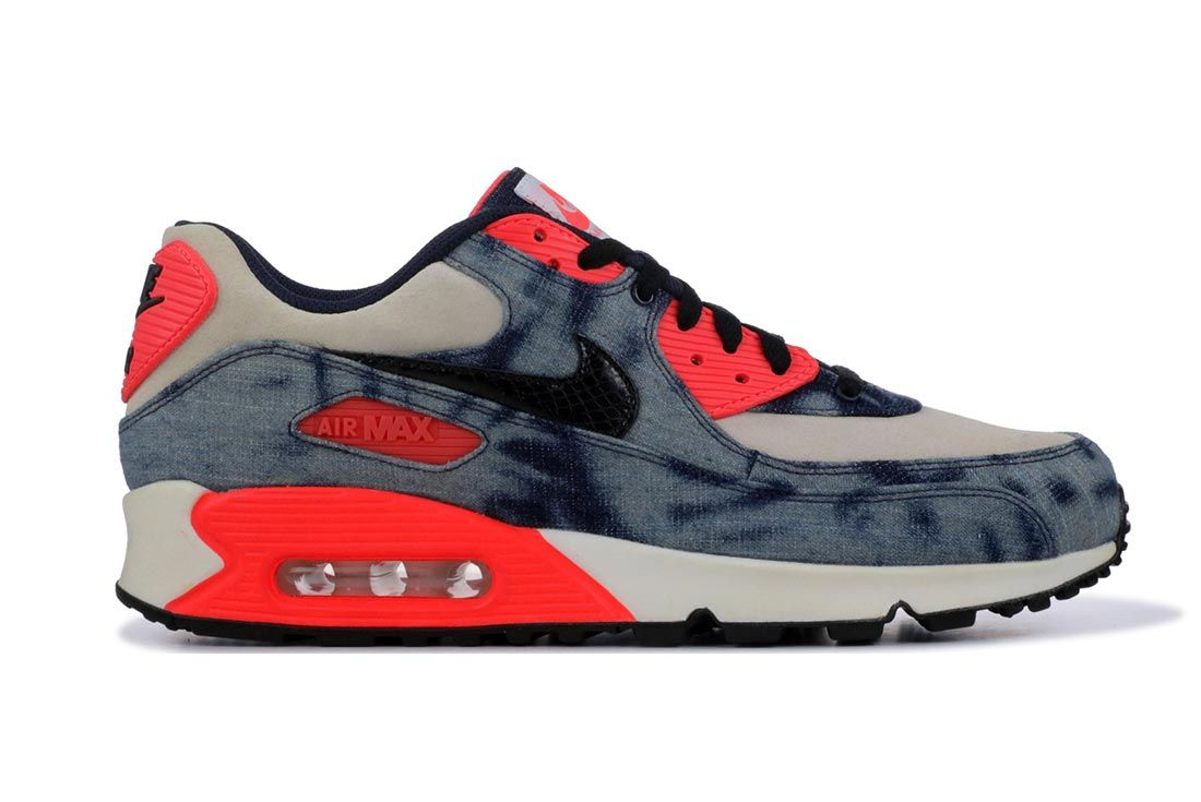 Nike Air Max 90 Infrared Denim Lateral Side Shot