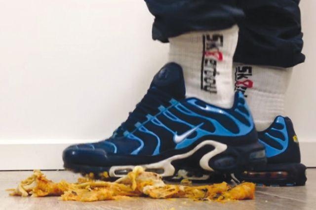 Sneaker Fetish Food Stomping 5