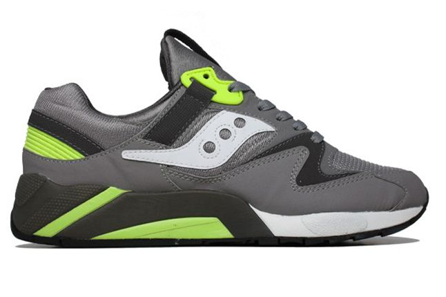 Saucony Grid 9000 Grey Side Profile 1