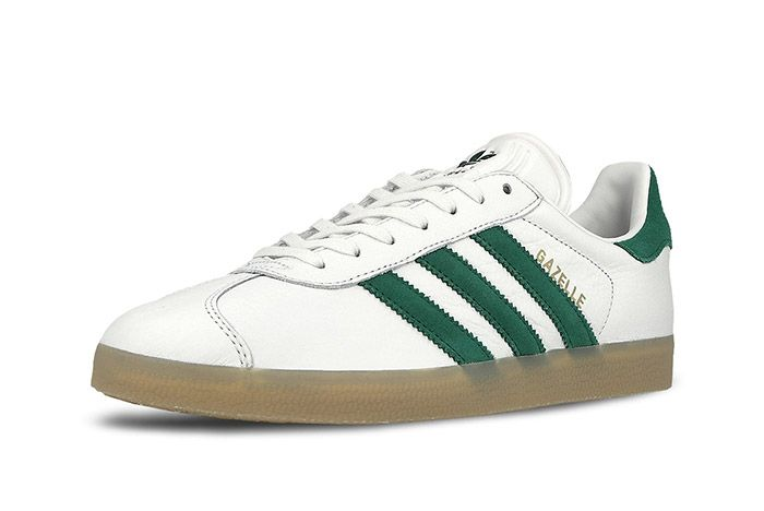 Adidas Gazelle White Green Gum 1