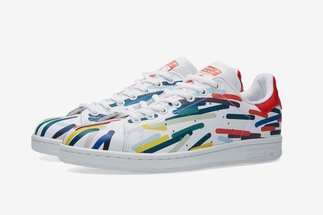 Adidas Stan Smith White Red Multi2