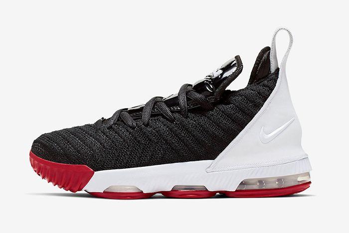 Nike Le Bron 16 Gs Bred Left