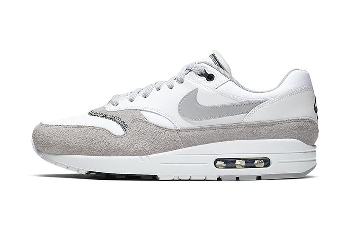 Nike Air Max 1 White Black Wolf Grey Ah8145 113 Release Date Lateral