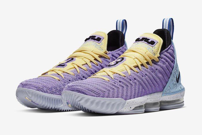 Nike Lebron 16 Lakers Heritage Pair