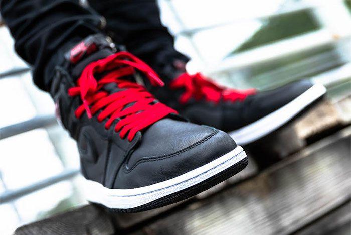 Air Jordan 1 Black Satin On Foot2