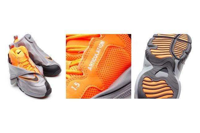 Nike Zoom Air Flight The Glove Coolgrey Total Orange 4