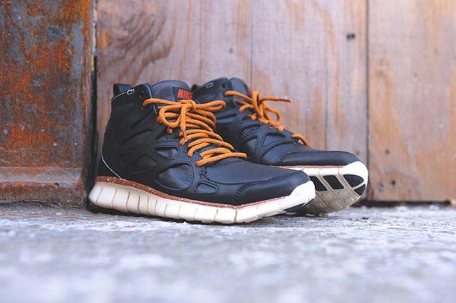 Nike Free Run 2 Mid Black Leather
