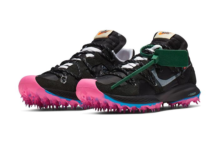 Off White Nike Zoom Terra Kiger 5 Black Pink Release Date Pair