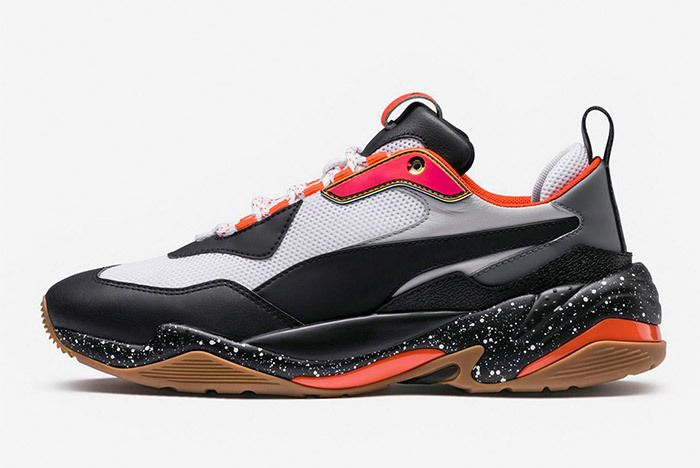 Puma Thunder Electric Black Orange 367996 01 3