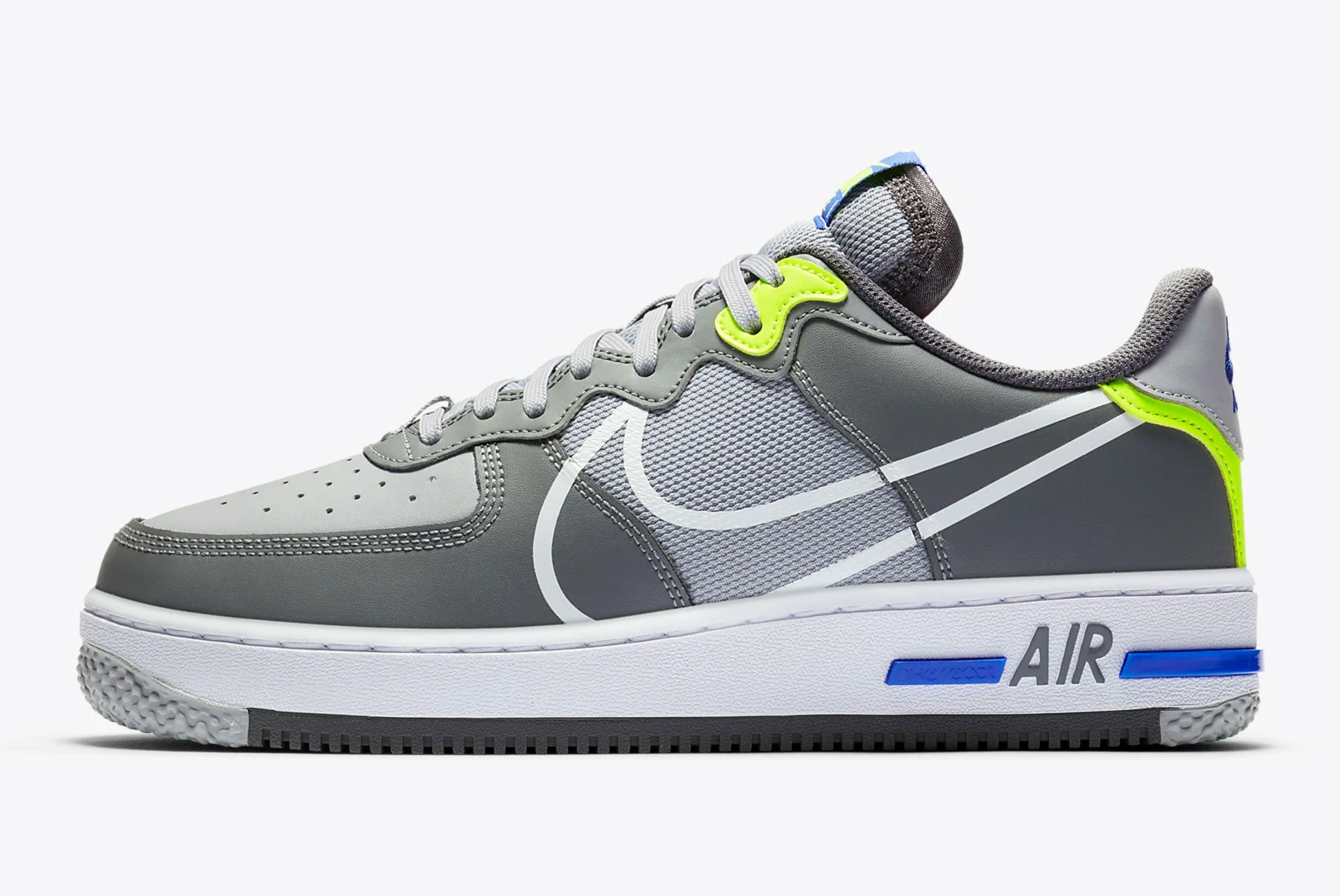 Nike Air Force 1 React 'Wolf Grey'