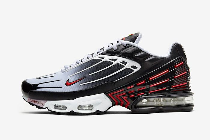 Nike Air Max Plus 3 Iii White Black Red Cd7005 004 Lateral Side Shot