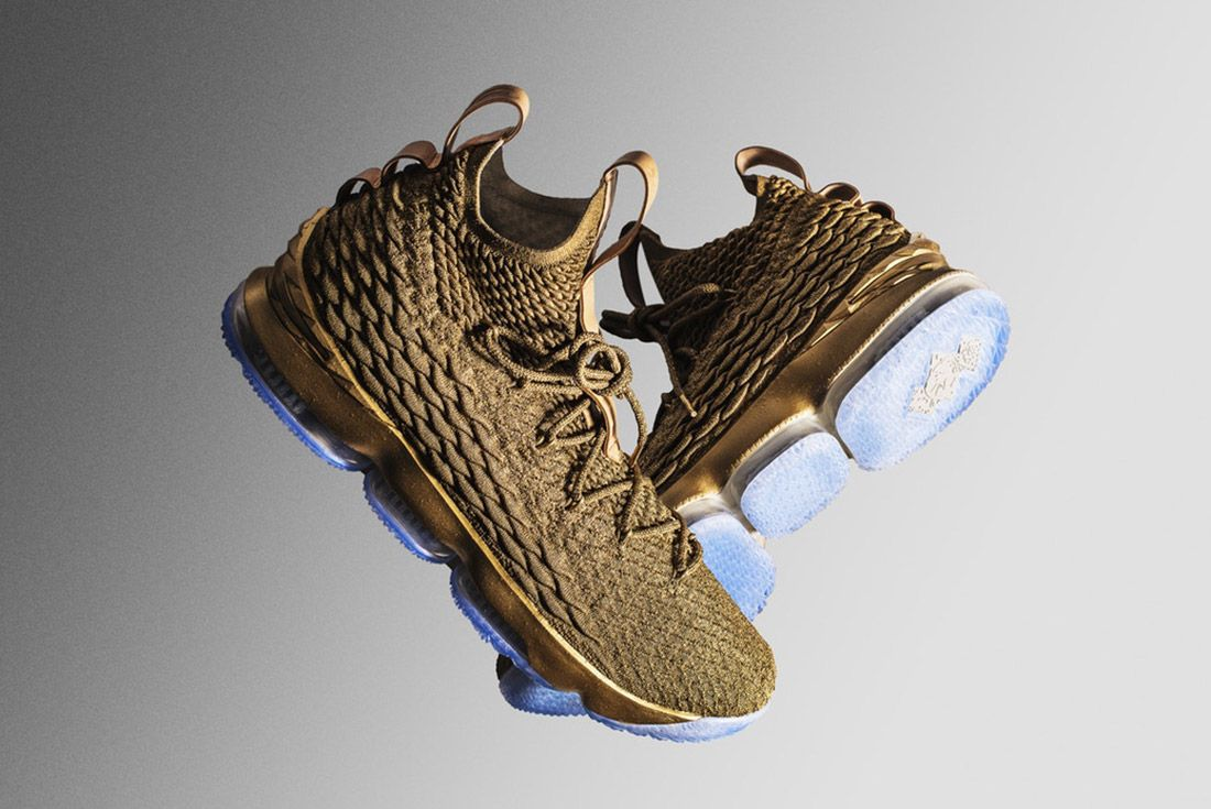 Nike Lebron 15 Gold Custom 1