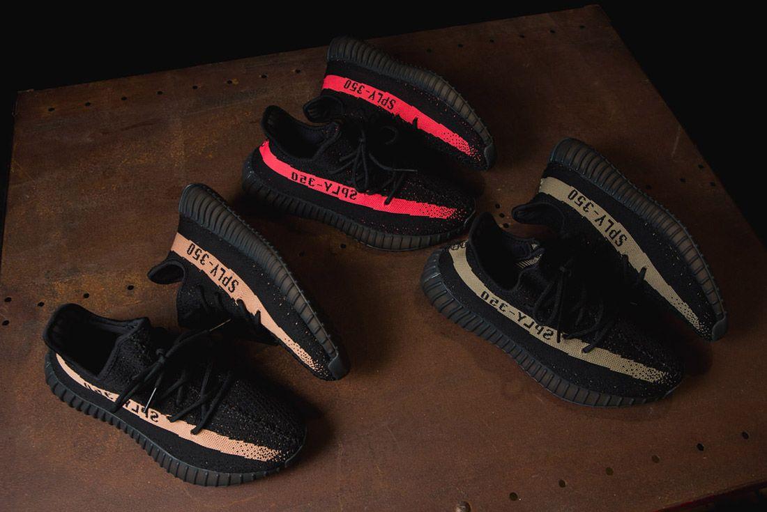 Adidas Originals Yeezy Boost 350 V2 Black Copper Solar Red Green 5