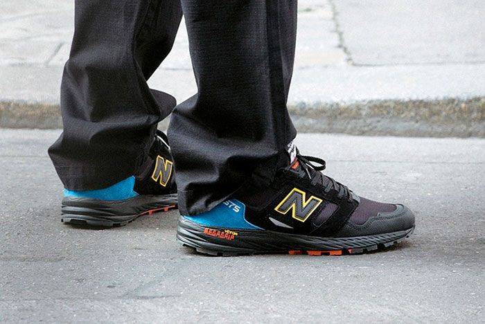 New Balance Made In Uk Season 2 Mtl575 Black On Foot Lateral