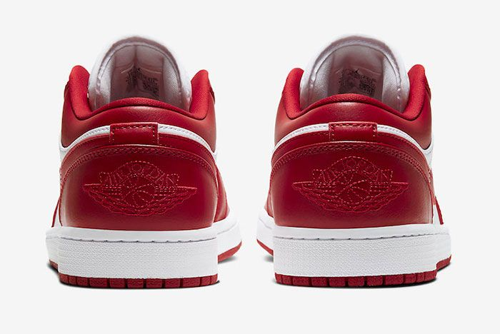 Air Jordan 1 Low Gym Red White 553558 611 Release Date Price 5Official