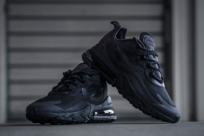 Nike Air Max 270 React Triple Black Ao4971 003 Stylised