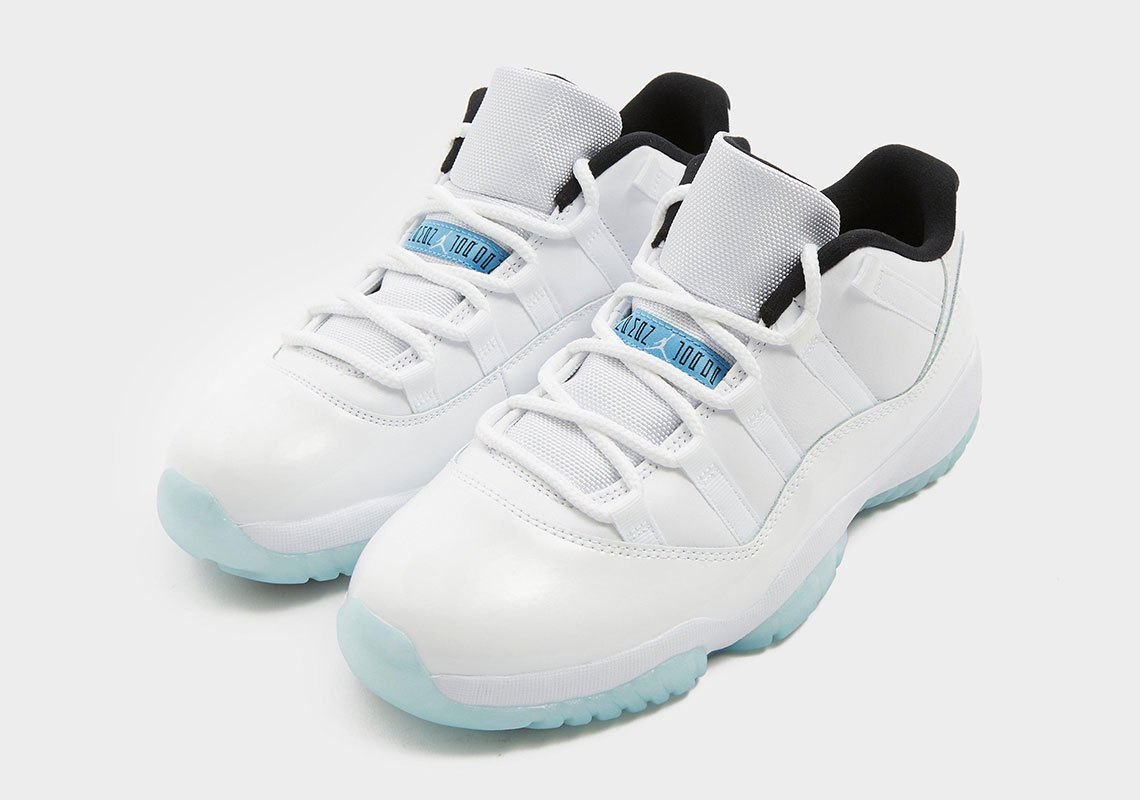 Air Jordan 11 Low Legend Blue on white