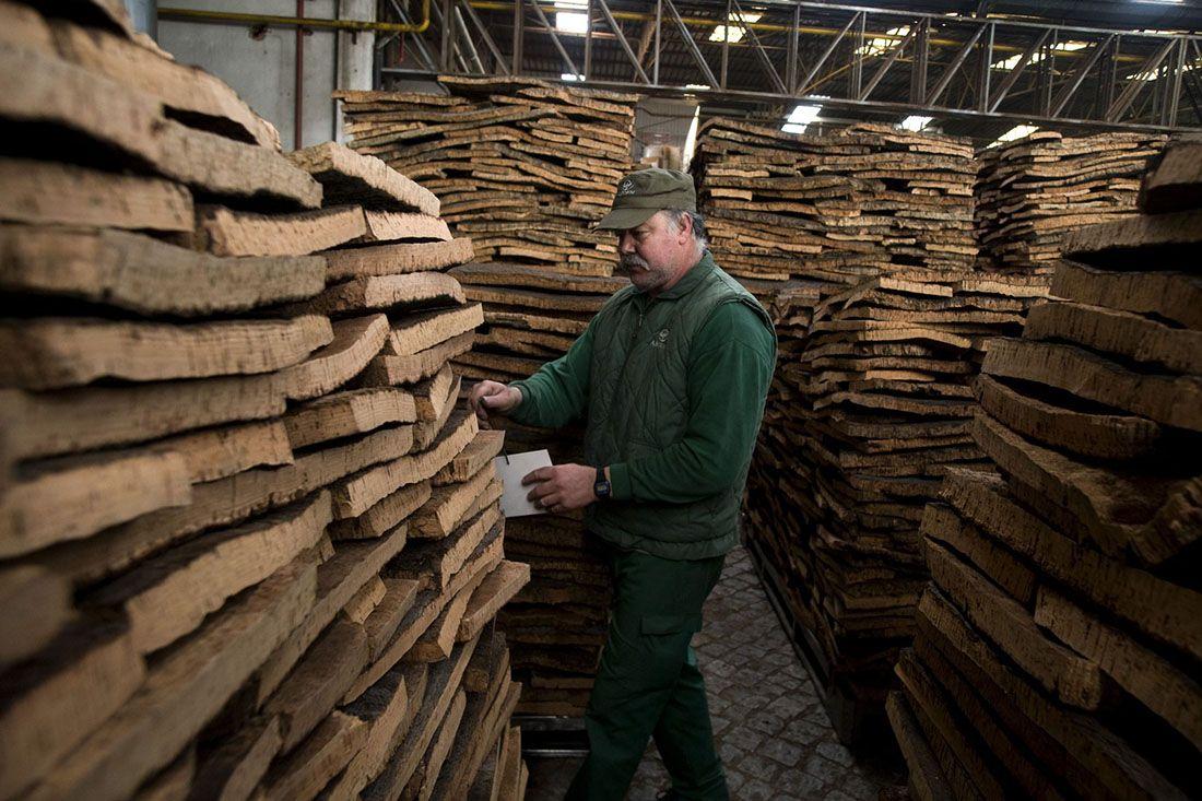 Cork Stacks Factory Worker Cork Material Matters Feature