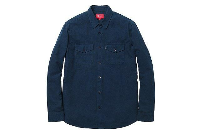 Supreme Buffalo Twill Shirt Navy 1
