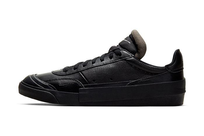Nike Drop Type Lx Triple Black Cn6916 001 Release Date Lateral