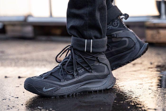 Nike Acg Air Terra Antarktik Gore Tex Bv6348 001 On Foot Front Angle