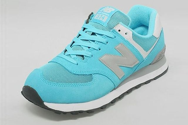 New Balance 574 Turquoise Silver White 2