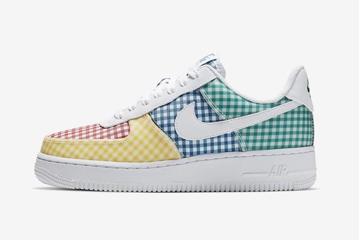 Nike Air Force 1 Gingham Pack Colour Lateral