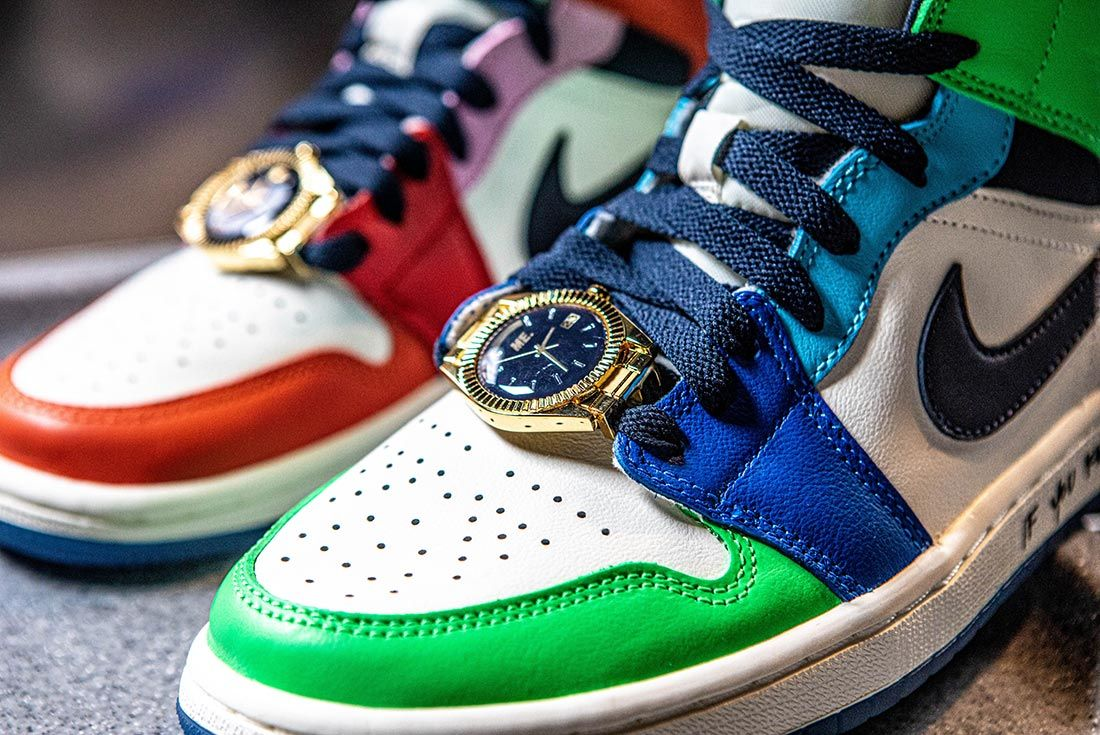 Melody Ehsani Air Jordan 1 Mid Fearless Watch Close Up