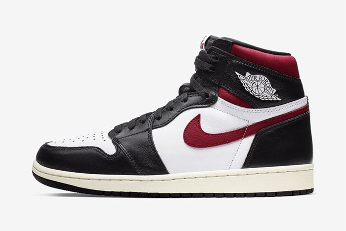 Air Jordan 1 Black White Sail Gym Red Official 555088 061 Release Date Lateral