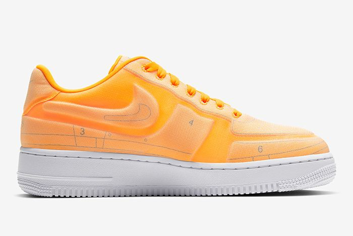 Nike Air Force 1 Low Schematic Orange Lateral Inside