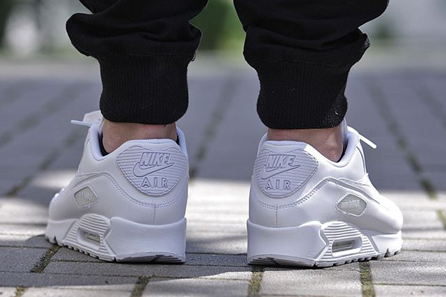 Nike Air Max 90 All White Leather 3