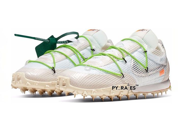 Off White Nike Waffle Racer White Black Electric Green Release Date