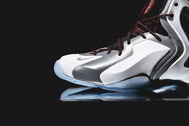 Nike Lil Penny Posite Reflective Silver Red 1