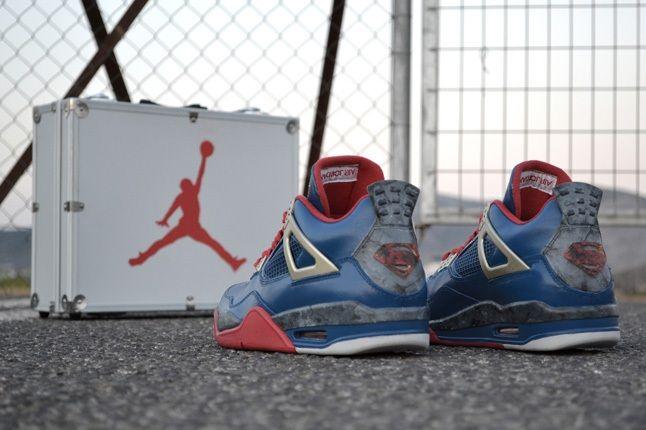 Air Jordan Iv Custom Jumpman Of Steel Heel Profile 1