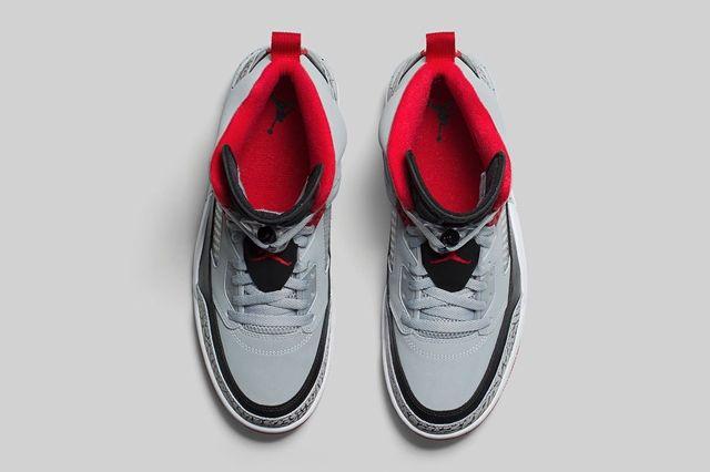 Air Jordan Spizike Wolf Grey Gym Red Bump 1