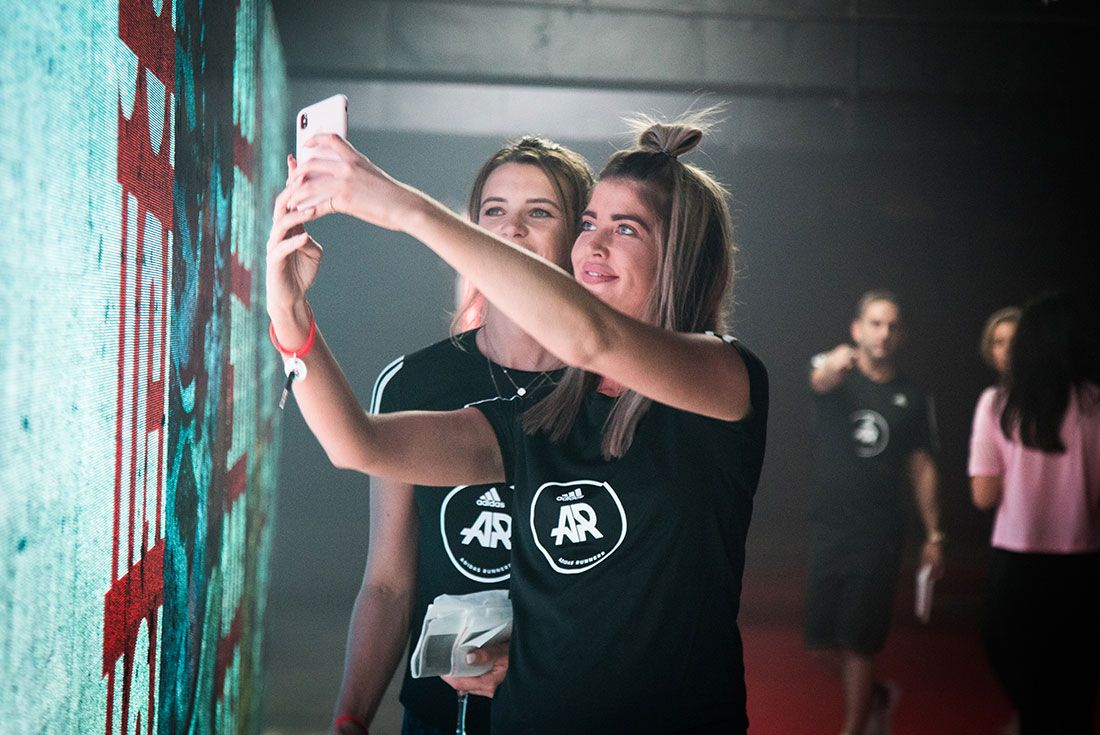 Adidas Ultraboost 19 Launch Selfie