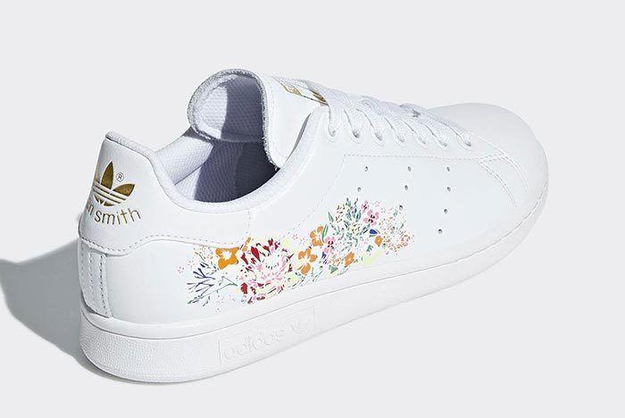 Adidas Stan Smith White Floral 3