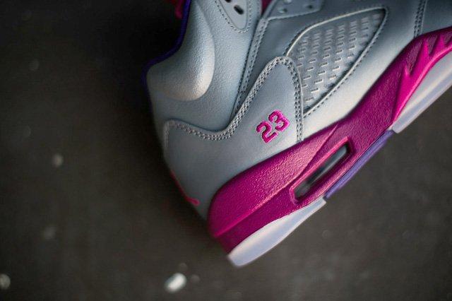 Air Jordan 5 Cement Raspberry 1