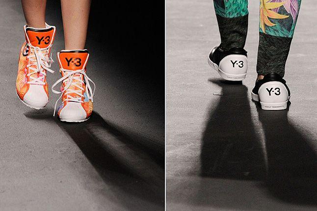 Orange Y3 High Tops Laces 1