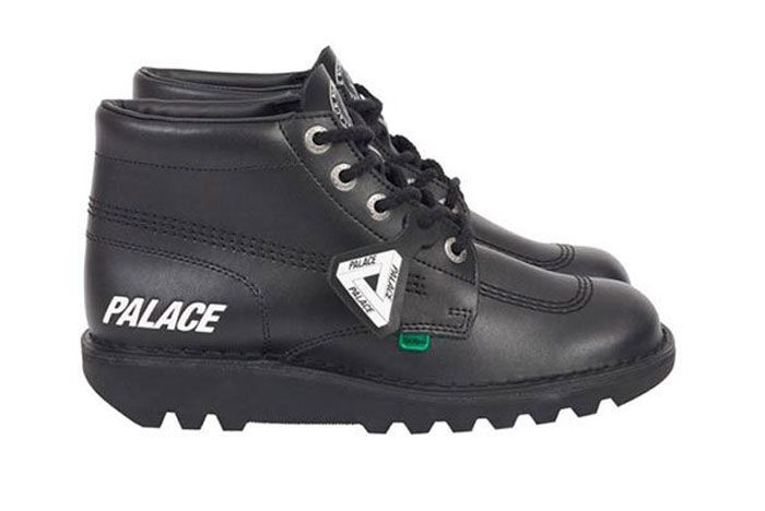 Kickers Palace Kickers Boot Black Lateral Side