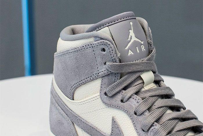 Jordan 1 Mid Grey White 2 Up Close Side