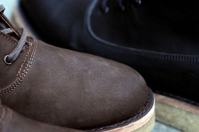 Fieg Caminando Office Boots Brown Toe Detail 1