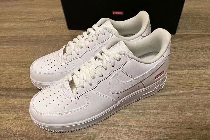 Supreme Nike Air Force 1 White Cu9225 100 Front Angle