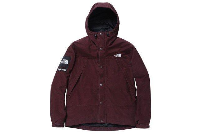 Supreme North Face Burgundy Jacket 1