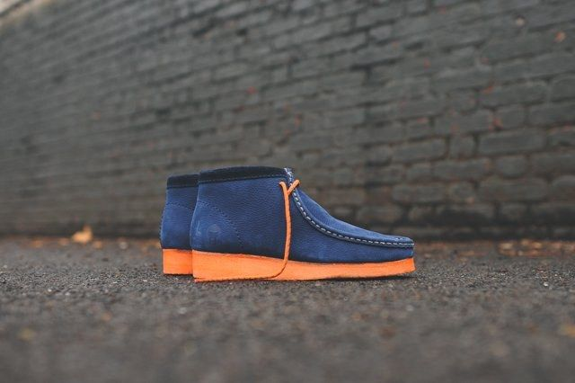 Mf Doom X Clarks Wallabee Boot Navy 4